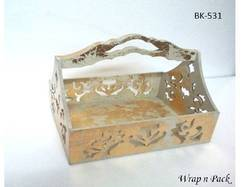 Wooden Gift Basket with Foiling