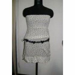 Ladies Bustier Smocked Dress
