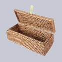 Lidded Rectangular Wicker Box