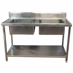 Double Bowl Kitchen Sink Unit