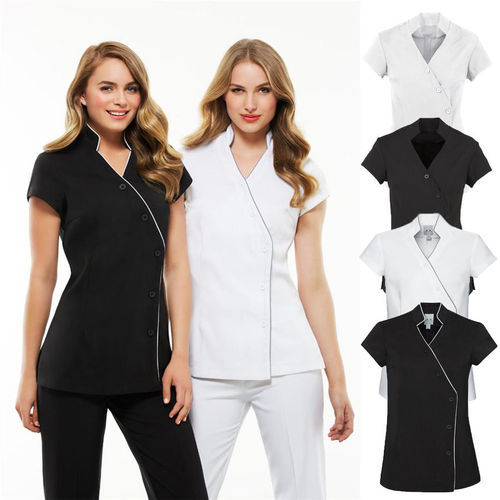 Beauty salon wear and uniforms view specifications for Spa uniform supplier in singapore