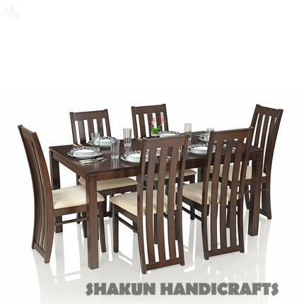 6 Seater Sheesham Wood Dining Table