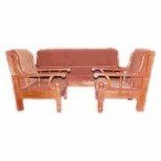 Nature Wood Sofa Set With Cushion