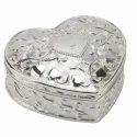 Silver Heart Shaped Case