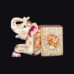 Handcrafted Marble Elephant Statue