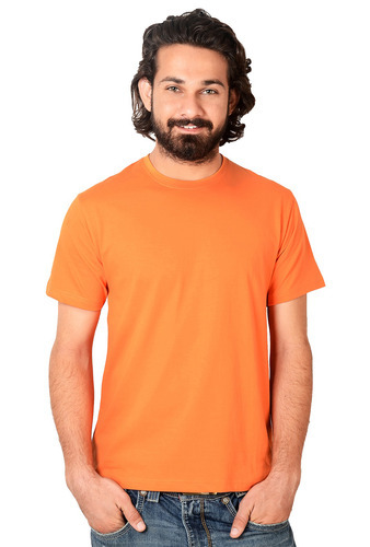 5a1526aea4290 Men s Orange Round Neck T-Shirt Half Sleeve at Rs 150  unit(s ...