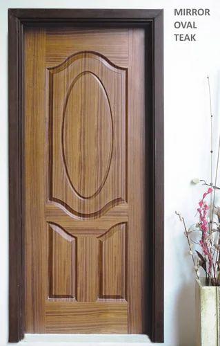 Amazing Mirror Ovel Teck Doors
