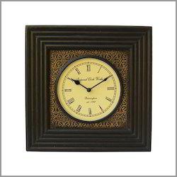 Vintage Square  Wooden Clock