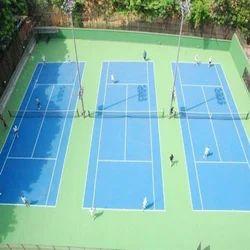 Colored Outdoor Badminton Court Flooring