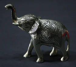 German Silver Elephant Sculpture