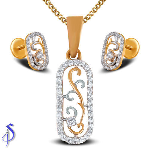 Light Pendant Set Stylish light weight diamond pendant set shashvat jewels pvt ltd stylish light weight diamond pendant set audiocablefo