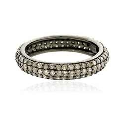 Diamond Triple Line Ring