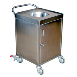 Stainless Steel Garbage Bin Trolley