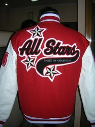 White And Scarlet Varsity Jacket