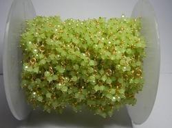 Green Chalcedony Gemstone Flower Chain