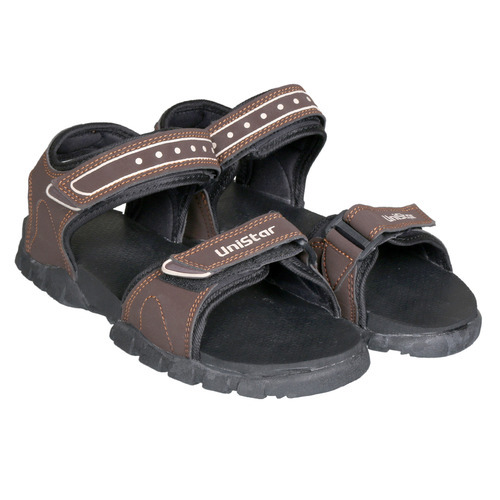 6990fc018 Unistar Gents Sandals Model 101-Brown Sole  Rubber Colours  at Rs ...