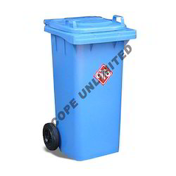 Wheeled Blue Industrial Dustbin