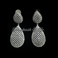 American Diamond Stone Earrings