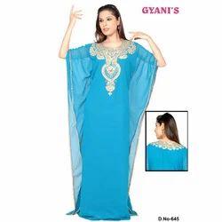 Blue Designer Ladies Caftan