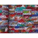 Queen Brick Pattern Patchwork Kantha Quilt