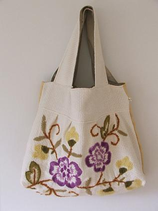Wool Embroidery Bag