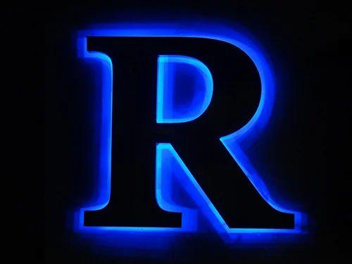 Led Reverse Glow Letters Raised Reverse Glow Letter
