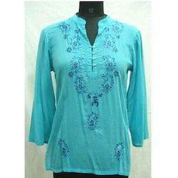 Fashion Chikan Kurta (Blue)