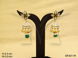 Flower Jhumka Earrings