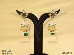 Flower Jhumka Earrings