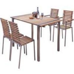 Stainless Steel Table Chair Set