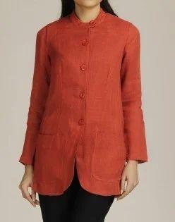 906b4d2c22 Linen Plain Gauze Buttondown Jacket Loading Zoom Mouse - Fabindia ...