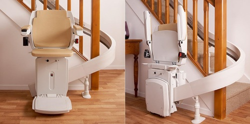 Curved Staircase Lift at Rs 700000/unit | Curved Stairlifts, Stairway Lift, Stair  Elevator, Home Stair Lift, स्टैयर लिफ्ट - Thirdleg Mobility Aids, Chennai |  ID: 4852659555
