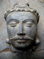 Gandharva Head Granite Stone Statue, Usage: Home Decoration, Art & Collection & Business Gift