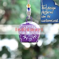 Cowbell Small Purple With White Flower Design- Custom Design