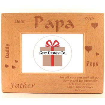 Dear Papa Frame - View Specifications & Details of Decorative Photo ...