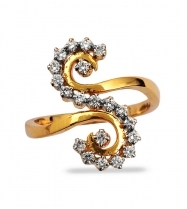 S Shaped Diamond Ring Diamonds Diamond Jewels Ritu Collections