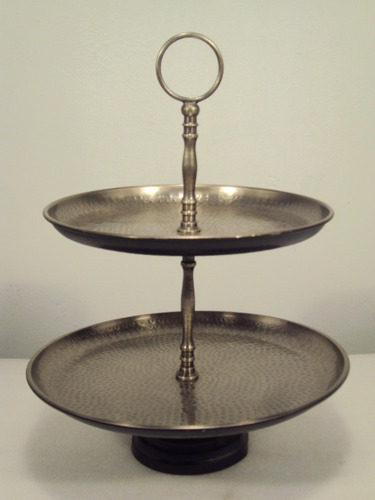 Antique 3 Tiered Metal Stand Br Fruit