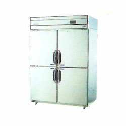 Satvin Stainless Steel Four Door Commercial Fridge, Capacity: 100 Ltr, Double Door