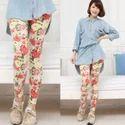 Multicolor Straight Fit Ladies Printed Leggings, Size: Xl