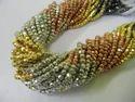 Multi Pyrite Gemstone Beads Strand