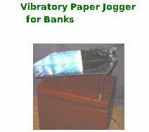 Vibratory Paper Jogger for Banks