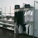 Pole Display System with shelves