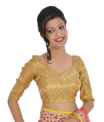 66b9e186a1 New Golden Brocade Party Wear Blouse at Rs 1299 /pieces ...