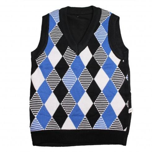 Diamond Design without Sleeves Baby Sweater
