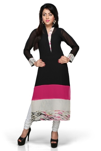 bbb02bcf2 Polyester Designer Semi Indian Long Party Wear Kurti
