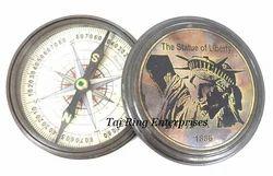 Statue Of Liberty Brass Compass