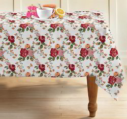 Rose Printed Cotton Table Cover