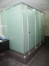 Plain Glass Cubicle Partition for Office