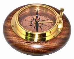 Wooden Brass Compass