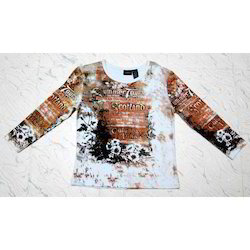 Round Neck Casual Wear Girls Printed Tops